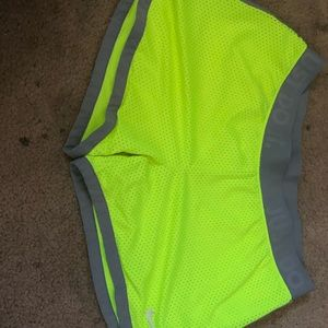 Yellow nike running shorts